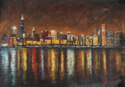 citylight paintings,dubai paintings,city life paintings,city at night paintings,Citylights,FR_1523_12387,Artist : Community Artists Group,Acrylic