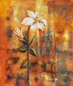 Single flower paintings,Flower paintings,Beautiful flower paintings,Floral painting,Beautiful Flower,FR_1523_12374,Artist : Community Artists Group,Acrylic