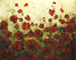 Beautiful flower paintings,flower paintings,red flower paintings,floral paintings,Beautiful Red Flowers,FR_1523_12372,Artist : Community Artists Group,Acrylic