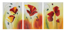 Flower multipiece paintings,beautiful multipiece paintings,The Flowers,FR_1523_13190,Artist : Community Artists Group,Acrylic