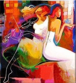 Music 1 - 24in X 36in,RTCS_18_2436,Oil Colors, 24in X 36in,Community Artists Group,Museum Quality - 100% Handpainted