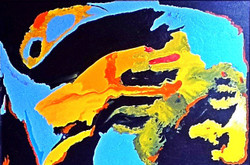 Abstract Art - 36in X 24in,ART_PIAA27_3624,Acrylic Colors,Preeti Arora,Museum Quality - 100% Handpainted,Canvas Painting