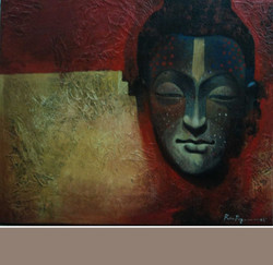 ,Buddhav IV,ART_836_5417,Artist : Debkumar Bhattacharyya (Seller),Acrylic