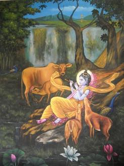 ,Krishna 2,ART_836_14316,Artist : Debkumar Bhattacharyya (Seller),Acrylic