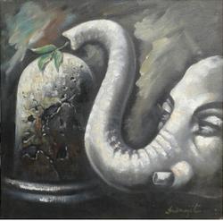 ,Lord Shiva,ART_836_14314,Artist : Debkumar Bhattacharyya (Seller),Acrylic