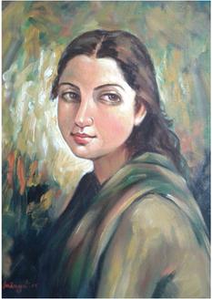,Face,ART_836_14313,Artist : Debkumar Bhattacharyya (Seller),Acrylic