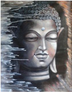 ,Budha 1,ART_836_14310,Artist : Debkumar Bhattacharyya (Seller),Acrylic