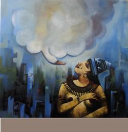 ,Nari  II,ART_836_5408,Artist : Debkumar Bhattacharyya (Seller),Acrylic