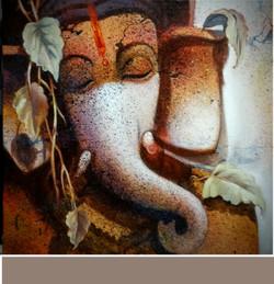 ,Ganesh 13,ART_836_5406,Artist : Debkumar Bhattacharyya (Seller),Acrylic