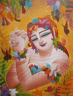 ,Queen 6,ART_836_4137,Artist : Debkumar Bhattacharyya (Seller),Acrylic
