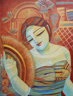 ,Queen 5,ART_836_4136,Artist : Debkumar Bhattacharyya (Seller),Acrylic