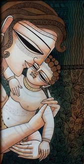 ,Mother&Child,ART_836_4131,Artist : Debkumar Bhattacharyya (Seller),Acrylic