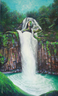 acrylic on canvas, Landscape ,Surrealism,Wedding,ART_1790_14622,Artist : Sabir Haque,Acrylic