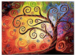 Tree of Life 6 - 40in x 32in,RTCSC_14_4032,Beauty of multicolor tree,Oil Colors,Museum Quality - 100% Handpainted Buy Painting Online in India.