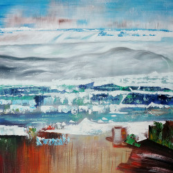 abstract paintings,beautiful abstract paintings,Undefined Nature Abstract,MTO_1550_14993,Artist : Community Artists Group,Mixed Media