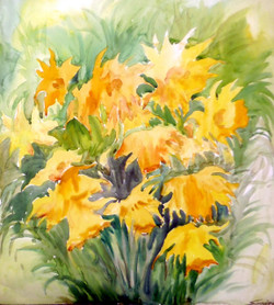lotus,flower,floral,painting,watercolor,paper,nature,Beauty of Flower Branches,ART_1232_15750,Artist : SAMIRAN SARKAR,Water Colors
