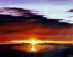 sun,sunset,sunset landscape,;amdscape painting,sunset acrylic,acrylic painting,Beauty of Sunset II,ART_1232_16014,Artist : SAMIRAN SARKAR,Acrylic