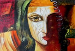 ,Thoughts,ART_1229_2226,Artist : Pallavi Jain,Acrylic