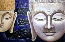 ,Buddha 2 Faces,ART_1229_1987,Artist : Pallavi Jain,Acrylic