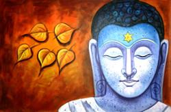 ,Buddha Blue,ART_1229_1986,Artist : Pallavi Jain,Acrylic