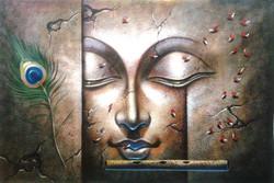 ,Krishna Antique,ART_1229_735,Artist : Pallavi Jain,Acrylic