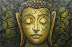 ,Buddha - Green,ART_1229_732,Artist : Pallavi Jain,Acrylic