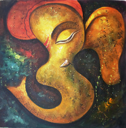 ,Ganesha - OM,ART_1229_703,Artist : Pallavi Jain,Acrylic