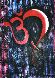 Ganesh Vandana 1 - 20in X 24in,ART_KJME10_2024,Acrylic Colors,Bappa,Ganeshji,Mangal Murti,Artist-Kirtiraj Mhatre,Museum Quality - 100% Handpainted