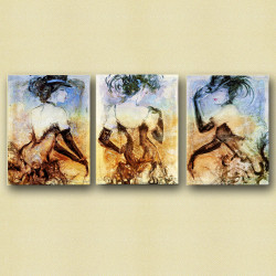 Sylvia - 48in X 24in(16in X 24in each X 3 Pcs.) - Painting