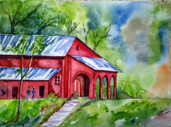 ,Panchgani Church,ART_1243_17918,Artist : Ujwala Chavan,Water Colors