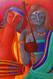 ROMMANCE,LOVE,EROTIC, indian painting, colorful, abstract,,MUSIC OF LOVE,ART_1323_17770,Artist : Debaditya  Sarkar,Acrylic