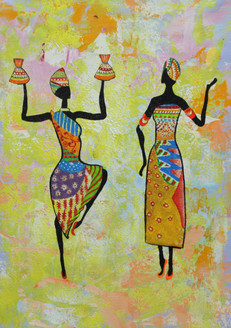 Figurative ,African art 01,ART_1522_19904,Artist : Ram Achal,Acrylic