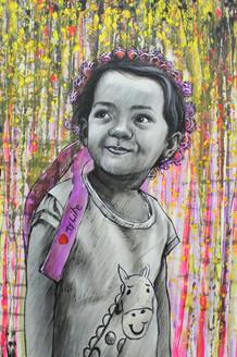 ,I LOVE LIFE 02,ART_1522_19888,Artist : Ram Achal,Acrylic