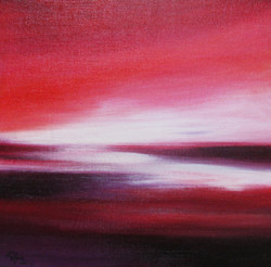 ,The Crimson Horizon ,ART_1268_20288,Artist : Rituja  Gayen,Acrylic