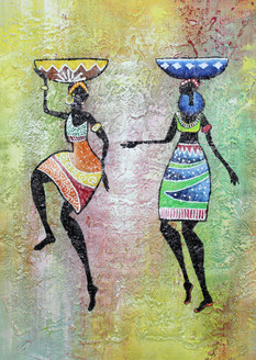 Figurative ,African Art 10,ART_1522_19913,Artist : Ram Achal,Acrylic