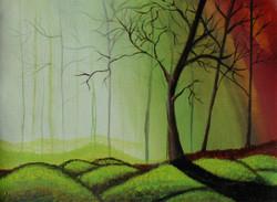 ,Misty Forest,ART_3029_20683,Artist : Shaifali Agarwal,Acrylic