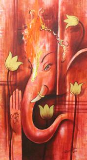 Gnesha ,Ganpati art03 ,ART_1522_20918,Artist : Ram Achal,Acrylic