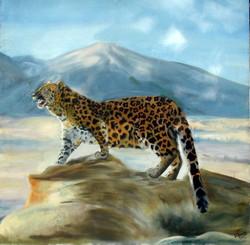 leopard, wildlife, fierce, mountain, nature, big cat,THE LEOPARD,ART_1372_21109,Artist : PRIYANKA SATARKAR,Oil