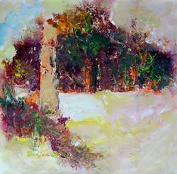 Landscape,Winterscape ,ART_965_21578,Artist : Dwijen Bora,Acrylic