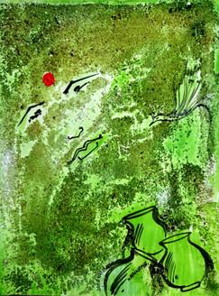 Abstract Krishna 06 - 09in X 12in,ART_KAPL09_0912,Mixed Media,Gopika,Radha,Paper,Artist Kankana Pal,Krishna, Kannaya,Bal Gopal - Buy Paintings Online in India.
