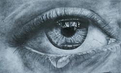 The tears (ART_3271_21730) - Handpainted Art Painting - 10in X 8in