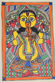 Beautiful Painting of God Shivji and goddess Parvatiji (ART_2168_21448) - Handpainted Art Painting - 7in X 11in