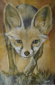 The Predator (ART_3015_21180) - Handpainted Art Painting - 14in X 24in