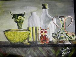 Still life (ART_2756_19708) - Handpainted Art Painting - 18in X 14in