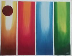 Colors of dawn (ART_2920_20362) - Handpainted Art Painting - 30in X 24in