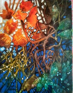 Dusk to dawqn (ART_1968_21971) - Handpainted Art Painting - 9in X 12in