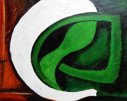 Ganesha (ART_1112_13555) - Handpainted Art Painting - 18in X 24in