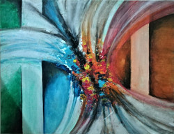 Abstract (ART_3265_22058) - Handpainted Art Painting - 17in X 12in