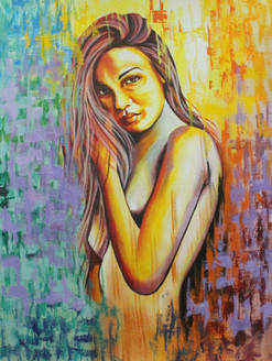 Beautify 2 (ART_1522_22158) - Handpainted Art Painting - 12in X 16in
