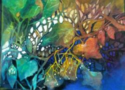 Autum hues-2 (ART_1968_22340) - Handpainted Art Painting - 12in X 9in